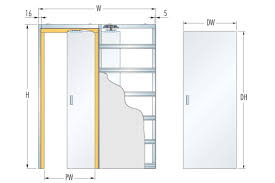eclisse double glass pocket door complete package 125mm wall thickness