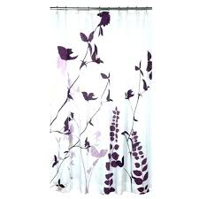 bed bath beyond hookless shower curtain liner curtains extra long and tension rod purple fl other