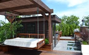 Stunning garden pergola ideas roof Patio Rooftop Deck Designs Freshomecom Youll Fall In Love With These Stunning Rooftop Deck Designs