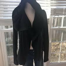 details about nwot vince paper leather scuba asymmetrical jacket sz m mrsp 995 black