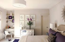view in gallery chic bedroom with a compact workstation in the corner