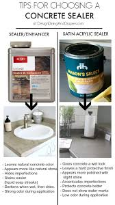 tips for choosing a concrete countertop sealer by designdininganddiapers com