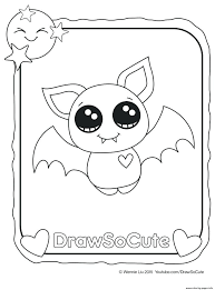 Cute Coloring Pages To Print Bat Draw So Cute Coloring Pages