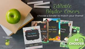Free Editable Binder Covers And Spines Editable Covers For Binders The Curriculum Corner 123