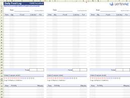 Food Tracker Spreadsheet Spreadsheet Collections