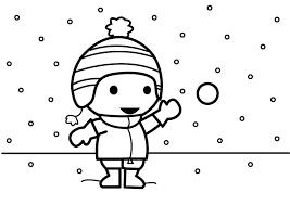 Sneeuwballen Kleurplaat Dibujo Para Colorear Tirar Bolas De Nieve