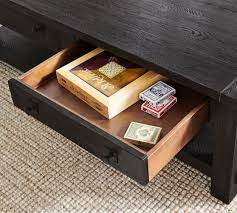 It's so sturdy and works perfectly with rustic or industrial decor. Benchwright 54 Rectangular Coffee Table Pottery Barn