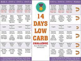 14 Days Low Carb Challenge In 2019 Low Carb Diet Menu