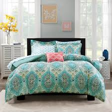 mainstays monique paisley bed in a bag comforter set