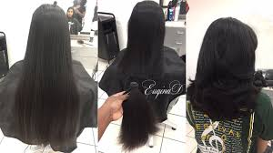 Layered Haircut After Locks Of Love Donation Thick Indian Hair Youtube