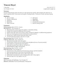 Housemaid Resume Sample Best Of Example Of Hotel Housekeeper Resume Free Sample Housekeeper Resume