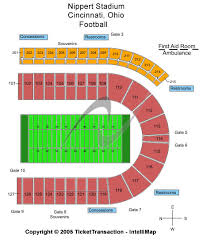 Nippert Stadium Seating Chart With Rows Cheap Nippert Stadium Tickets