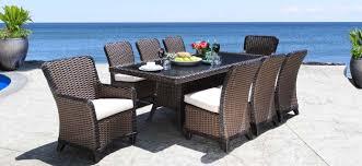 elora outdoor wicker patio furniture dining set