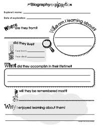 Biography Book Report Template Magdalene Project Org