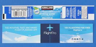 waterbottle labels custom labels for kirkland signature water bottles bottleyourbrand