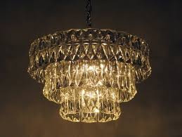 chandelier with 3 tiers of molded crystal panels at 1stdibs