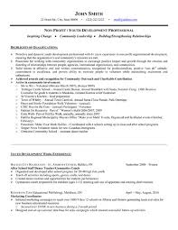 Youth Development Resume Sample & Template