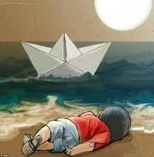 Image result for em bé tị nạn