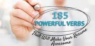 powerful verbs that will make your resume awesome
