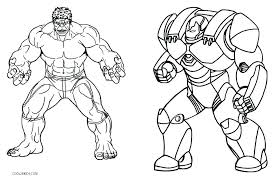 hulk coloring pages printable iron man hul