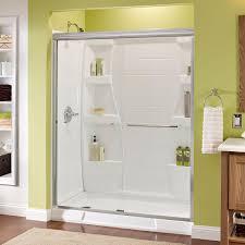 delta simplicity 60 in x 70 in semi frameless sliding shower door in