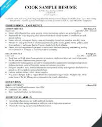 Prep Cook Resume Sample Cook Resume Sample Line Job Chef Interview