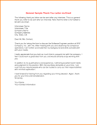 Sample Email Thank You Letter After Interview Subject Line