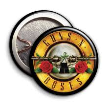Guns n Roses - Gold Logo - Parody Badges