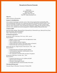 5 6 Front Desk Receptionist Resume Sample Formatmemo