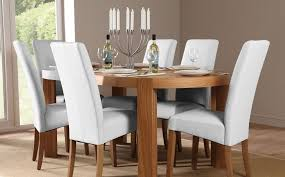 pictures gallery of white leather dining room chairs