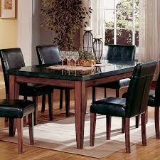 Kitchen Tables With Granite Tops Steve Silver Montibello Granite Top Rectangular Table Walmartcom