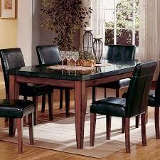Granite Top Kitchen Table Set Steve Silver Montibello Granite Top Rectangular Table Walmartcom