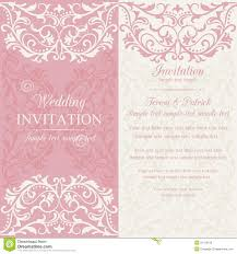 Baroque Wedding Invitations Baroque Wedding Invitation Pink And Beige Stock Vector
