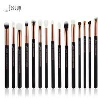 jessup marque rose or noir professionnel maquillage pinceaux make up brush outils kit eye liner