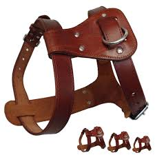 details about handcraft genuine leather pet dog harness vest for small large dogs adjustable