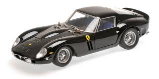 In best ferrari tradition, exposed aluminum surfaces feature a black wrinkle finish. 1962 Black Ferrari 250 Gto By Minichamps 1 18 Scale Choice Gear