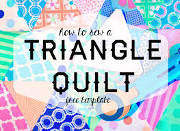 How To Sew A Triangle Quilt (Free Template!) - YouTube & How To Sew A Triangle Quilt (Free Template!) Adamdwight.com
