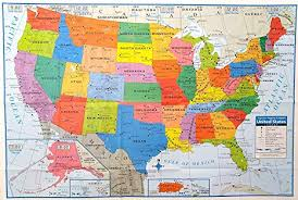 Large Us Map Poster Superior Mapping Company United States Poster Size Wall Map 40 X 28 With Cities 1 Map