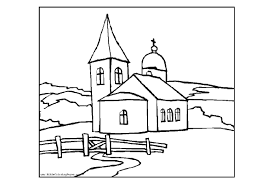 Small Picture Big Church Coloring Pages Printable Coloringstar Coloring