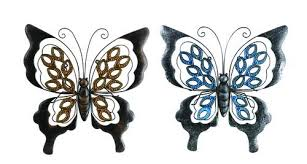 Metal butterfly wall decor outdoor garden fence art hanging glass decorations for patio or bedroom mewonb 4 out of 5 stars (49) $ 29.45 free shipping add to favorites butterfly wall decor recycled steel rustic metal custom butterfly wall art fttdesign 5 out of 5 stars (2,559. Enchanted Garden 16 Metal Butterfly Outdoor Wall Art Assorted Styles At Menards
