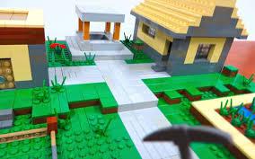 Real Life Lego House Lego Minecraft Village Youtube