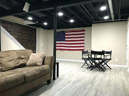 Painted Basement Ceiling Ideas Paint It All Black Low Basement