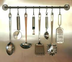 kitchen utensil hanging rack utensil rack kitchen utensils hanging on wall stock photo image of