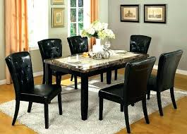marble dining table 6 chairs black