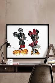 mickey minnie print abstract disney poster disney print