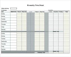 Time Card Calculator Bi Weekly With Lunch Bi Weekly Timesheet Template Timetoreflect Co