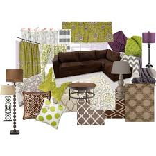 Warm Living Room Ideas  Color Scheme Brown, Green, Purple, Gray, Black