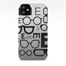Eye Chart Eyeglasses Gray Glasses Iphone Case By Islandtradingcompany