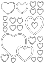 Small Picture Printable Coloring Pages Peace Hearts Heart shapes coloring