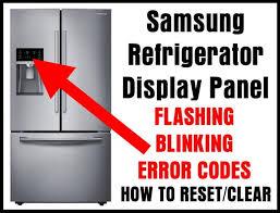 Samsung Refrigerator Comparison Chart Samsung Refrigerator Flashing Blinking Faults Reset